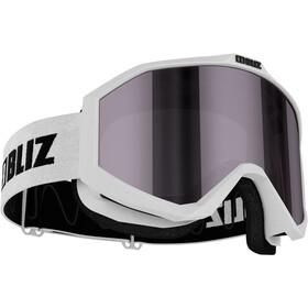 Bliz Liner Gogle, white-black/pink-silver mirror